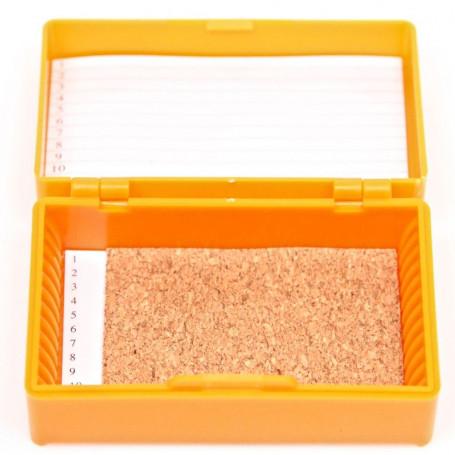 Boite à Préparation ABS Orange pour Lames de 76 x 26mm