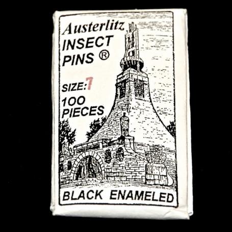 Epingles à Insectes Vernies Noires ( x100 )
